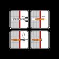 Rahmendübel RMS 8x140mm, nylon+ Schraub mit Sechskantkopf - 2/2