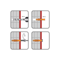 Rahmendübel RMT 8x160mm, nylon+ Schraub mit torx Senkkopf - 2/2