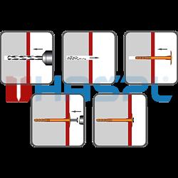 Tellerdübel TTH, 10/60x150mm, polypropylen - 2