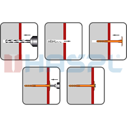 Tellerdübel TTH, 10/60x130mm, polypropylen - 2
