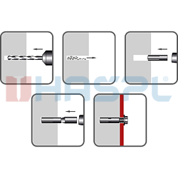 Einschlaganker, Stahl verzinkt 12x40, M10 - 2