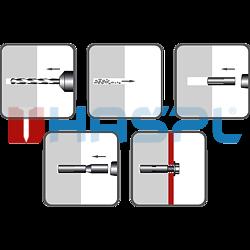 Einschlaganker, Stahl verzinkt 10x30, M8 - 2