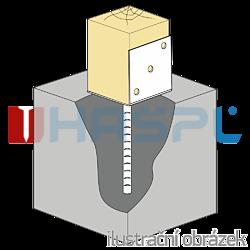 Stützenfuss Form L 100x80x4,0 - 2