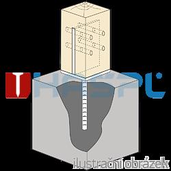 Stützenfuss Form T 70x70x4,0 - 2