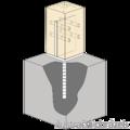 Stützenfuss Form T 70x70x4,0 - 2/3