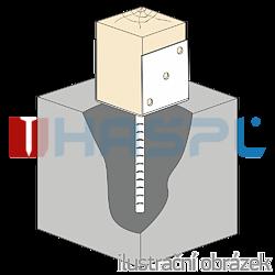 Stützenfuss Form U 60x60x4,0 - 2