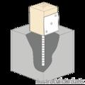 Stützenfuss Form U 100x60x4,0 - 2/3