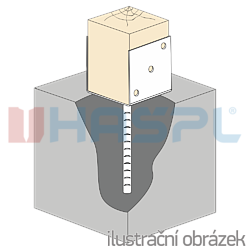 Stützenfuss Form U 120x100x4,0 - 2