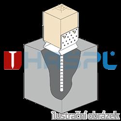 Stützenfuss Form U mit Rippe 100x100x4,0 - 2