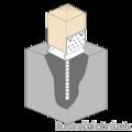 Stützenfuss Form U mit Rippe 100x100x4,0 - 2/3