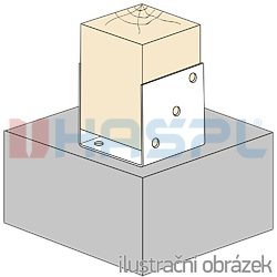 Pfostenlasche Form U 100x100x4,0 - 2