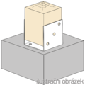 Pfostenlasche Form U 100x100x4,0 - 2/3