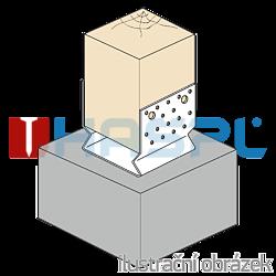 Pfostenlasche Form U mit Rippe 60x60x4,0 - 2