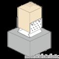 Pfostenlasche Form U mit Rippe 100x100x4,0 - 2/3