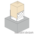 Pfostenlasche Form U mit Rippe 140x120x4,0 - 2/3