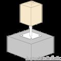 Stützenfuss, verstellbar 80x80x330x4,0 M24 - 2/2