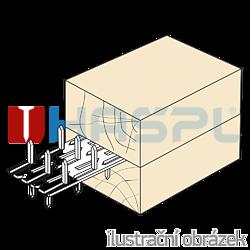 Nagelplatte,  beiderseitig 35x84x1,5 - 2
