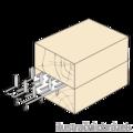 Nagelplatte,  beiderseitig 35x84x1,5 - 2/3