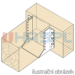 Trámová botka - třmen Typ1 50x135x2,0 - 2