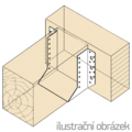 Balkenschuhe nach Aussen 80x80x2 - 2/3