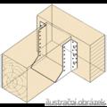 Balkenschuhe nach Aussen 40x130x2 - 2/3