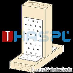 Winkelverbinder 90° Typ 1  120x120x120x3,0 - 2