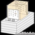 Winkelverbinder 90° Typ 2 80x100x65x3,0 - 2/3