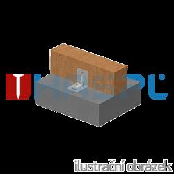 Winkelverbinder 90° Typ 4 mit Rippe 90x105x105x3,0 Nut - 2