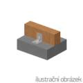 Winkelverbinder 90° Typ 4 mit Rippe 90x105x105x3,0 Nut - 2/3