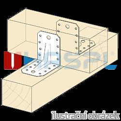 Winkelverbinder 90° Typ 4 mit Rippe 55x70x70x2,0 - 2