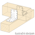 Winkelverbinder 90° Typ 4 mit Rippe 55x70x70x2,0 - 2/3