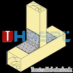 Winkelverbinder 90° Typ 5 mit Rippe 120x35x35x1,5 - 2