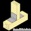 Winkelverbinder 90° Typ 5 mit Rippe 120x35x35x1,5 - 2/3