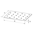 Lochplatten 100x240x2,0 - 3/3
