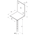 Stützenfuss Form L 80x80x4,0 - 3/3