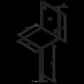 Stützenfuss Form L 100x80x4,0 - 3/3