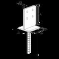 Stützenfuss Form T 70x70x4,0 - 3/3