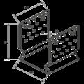 Pfostenlasche Form U mit Rippe 100x100x4,0 - 3/3