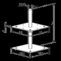 Stützenfuss, verstellbar 80x80x330x4,0 M24 - 3/3