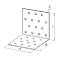 Winkelverbinder 90° Typ 1 30x40x40x2,0 - 3/3