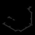 Winkelverbinder 90° Typ 5 mit Rippe 120x35x35x1,5 - 3/3